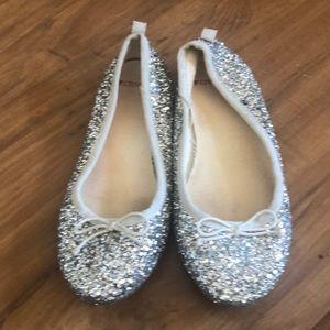 Silver sequins shoes